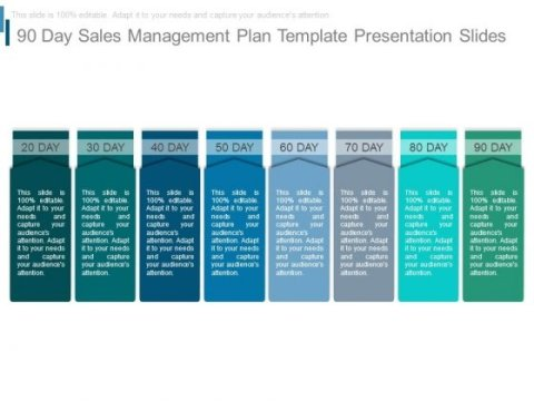 90 Day Sales Management Plan Template Presentation Slides     90 Day Sales Management Plan Template Presentation Slides   PowerPoint  Templates