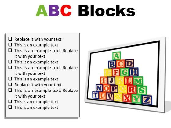 Abc Blocks Education PowerPoint Presentation Slides F - PowerPoint ...