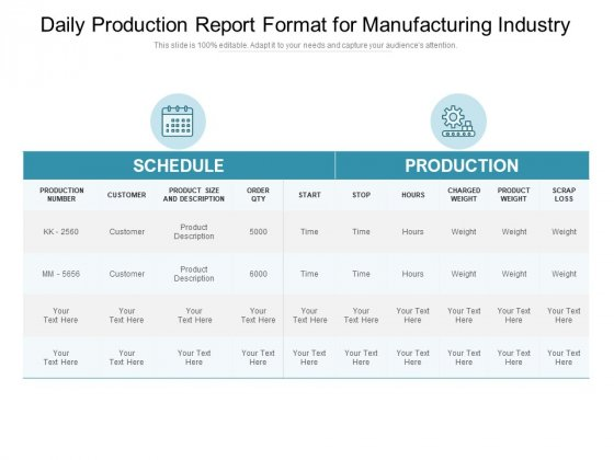 Daily film production report template. Daily Production Report Format For Manufacturing Industry Ppt Powerpoint Presentation Pictures Example Topics Pdf Powerpoint Templates