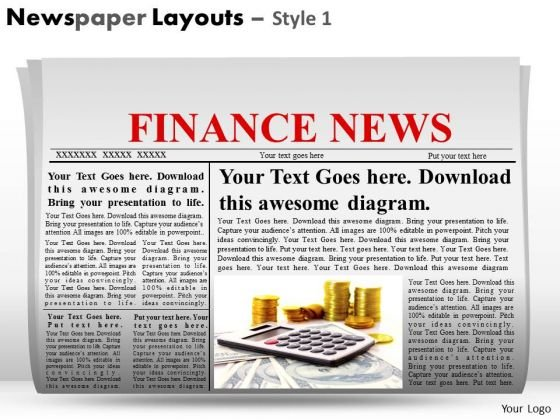Blank Newspapers Templates For Layouts