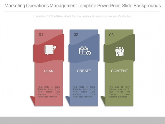 This one is a great example of a marketing plan and looks snazzy too 😉. Marketing Operations Management Template Powerpoint Slide Backgrounds Powerpoint Templates
