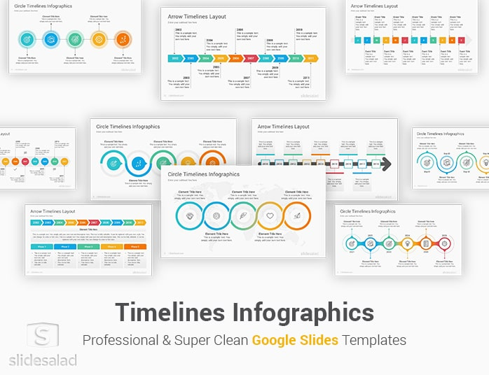 Timeline infographics are simply great if you need to create a list of events, steps or processes in. Timelines Diagrams Google Slides Presentation Template Slidesalad