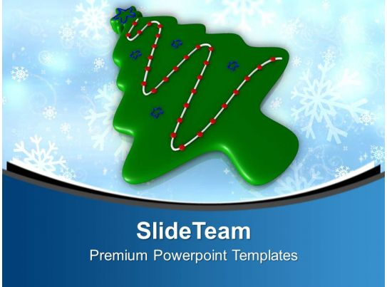 Christmas Tree In Form Of Cookie Powerpoint Templates Ppt