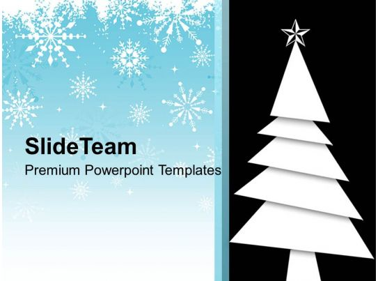 Christmas Tree With Winter Background PowerPoint Templates PPT Themes And Graphics PowerPoint