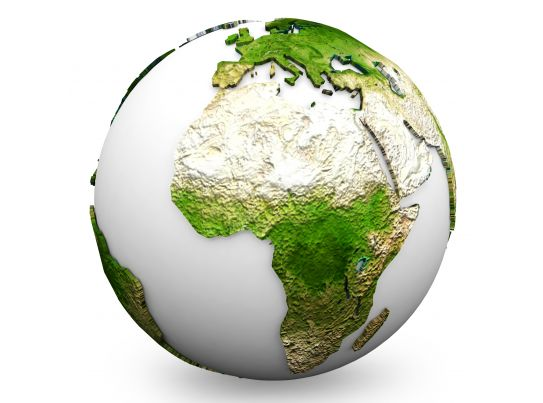 Green Earth Globe Graphic Stock Photo PowerPoint Slide Templates Download PPT Background