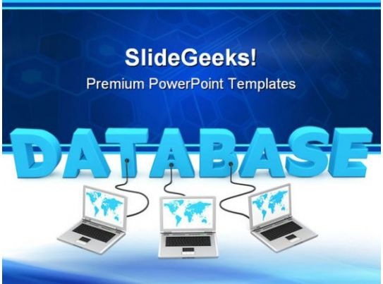 Database Networking Computer PowerPoint Templates And PowerPoint Backgrounds 0111 PowerPoint