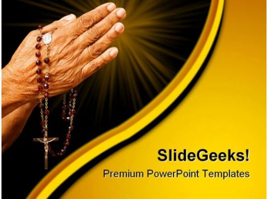 Old Hands Praying Religion PowerPoint Templates And PowerPoint Backgrounds 0411 PowerPoint
