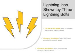 Lightning Icon  Slide Team