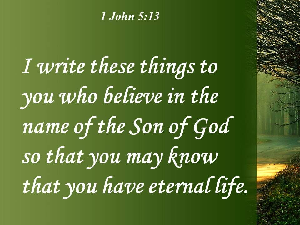 Image result for picture 1 john 5:13