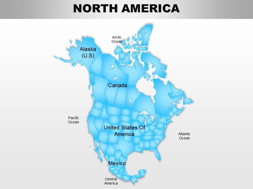 North America Continents Powerpoint Maps PPT Images Gallery PowerPoint Slide Show