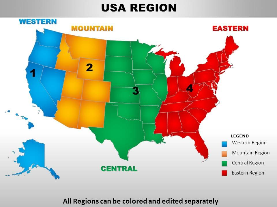 free editable ppt map of united states