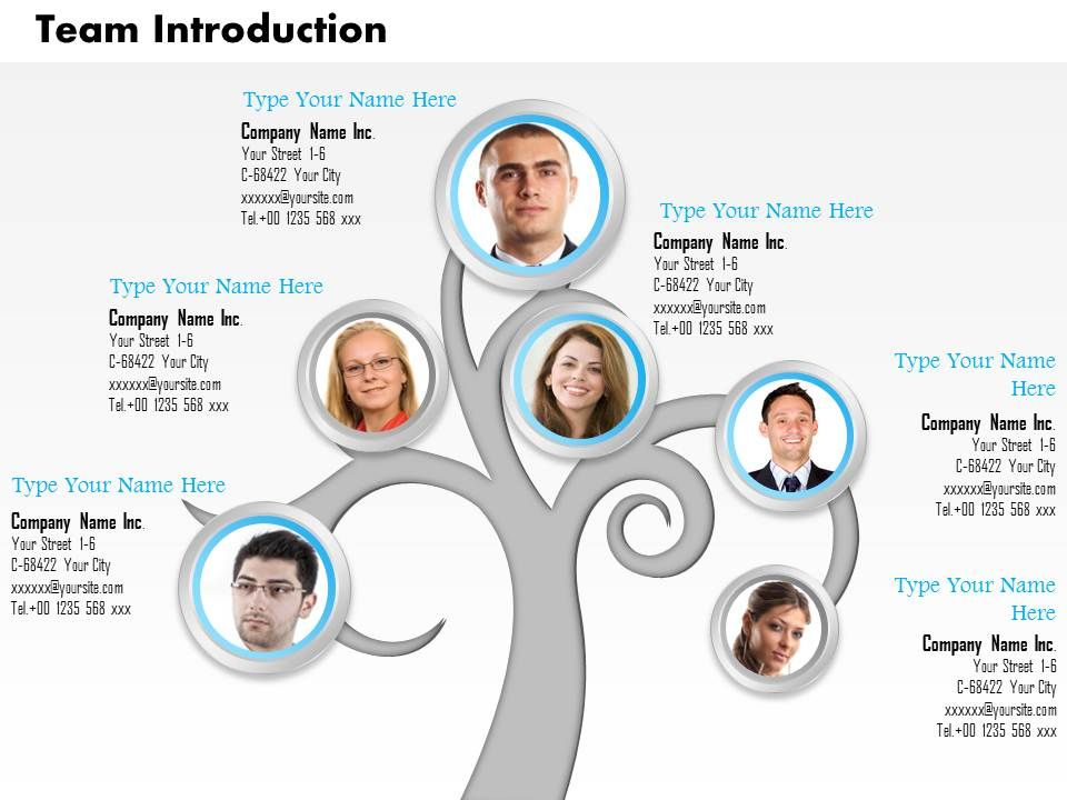 0514 Tree Structure For Team Introduction Ppt Images