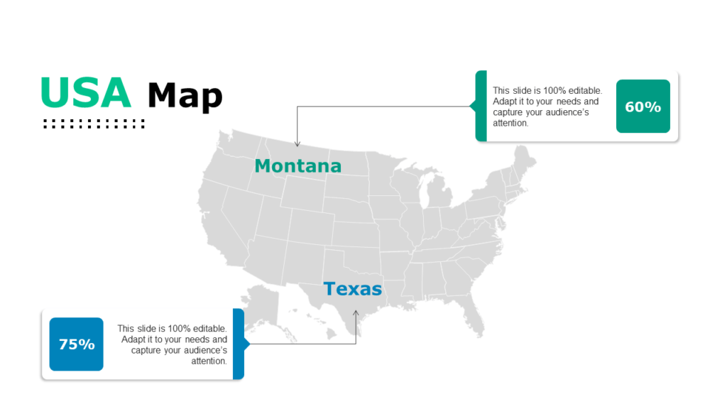 Powerpoint isn't just for meetings. Best 30 Editable Us Map Powerpoint Templates For Business Professionals The Slideteam Blog