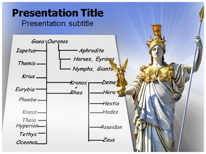 Greek Gods Family Tree Powerpoint Templates Powerpoint Presentation On Greek Gods Family Tree