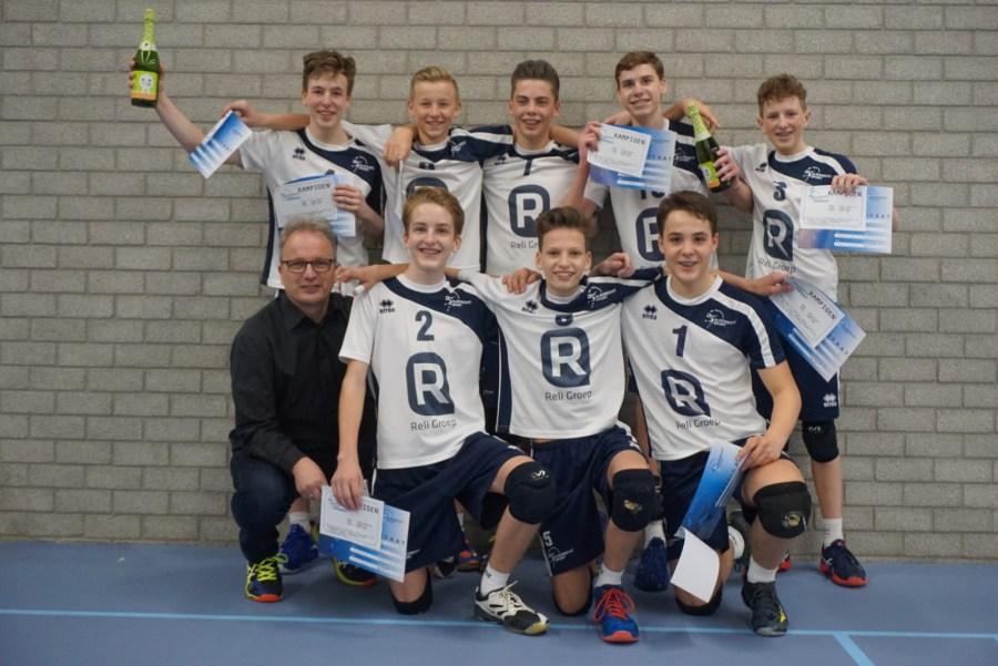 Jongens B1 eerste Sliedrecht Sport-kampioen tweede speelhelft seizoen