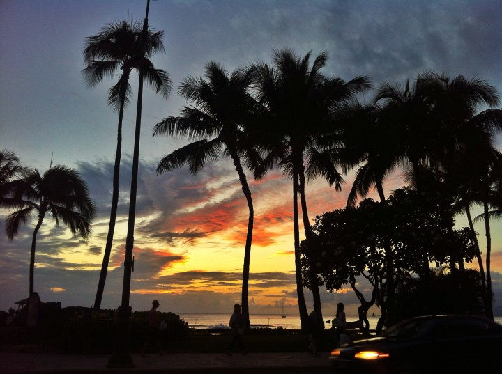 end of a day in Hawaii; beginning of a new year for me