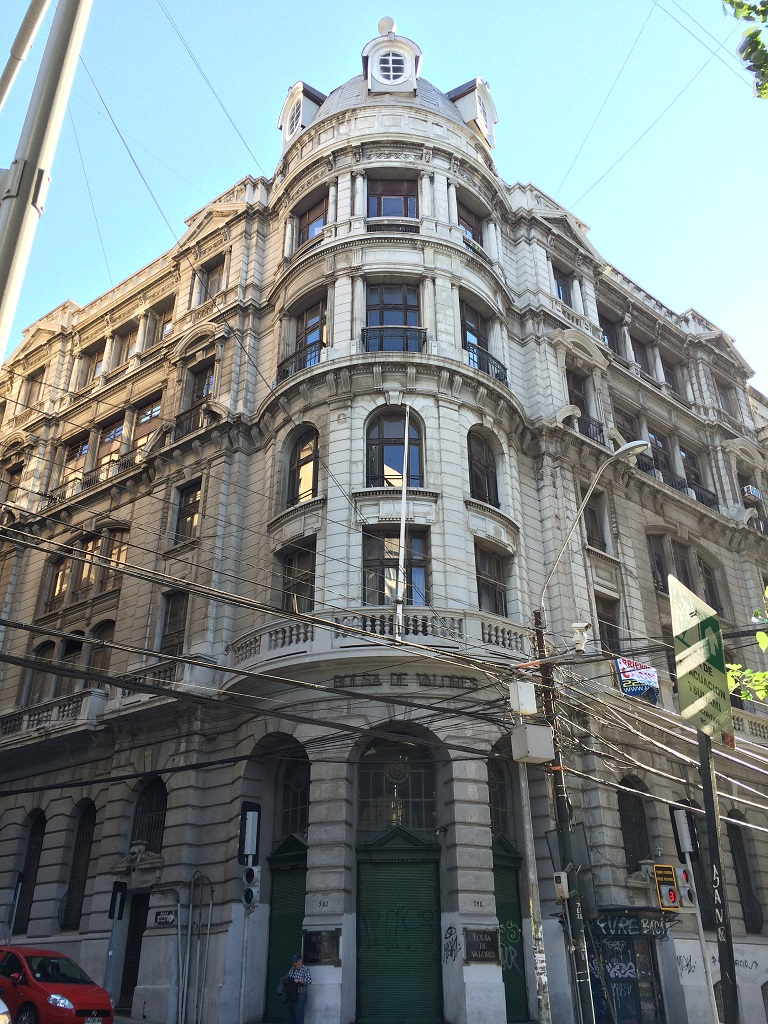 the historical quarter of Valparaiso is a UNESCO World Heritage site. You'll find stately old buildings such as this.