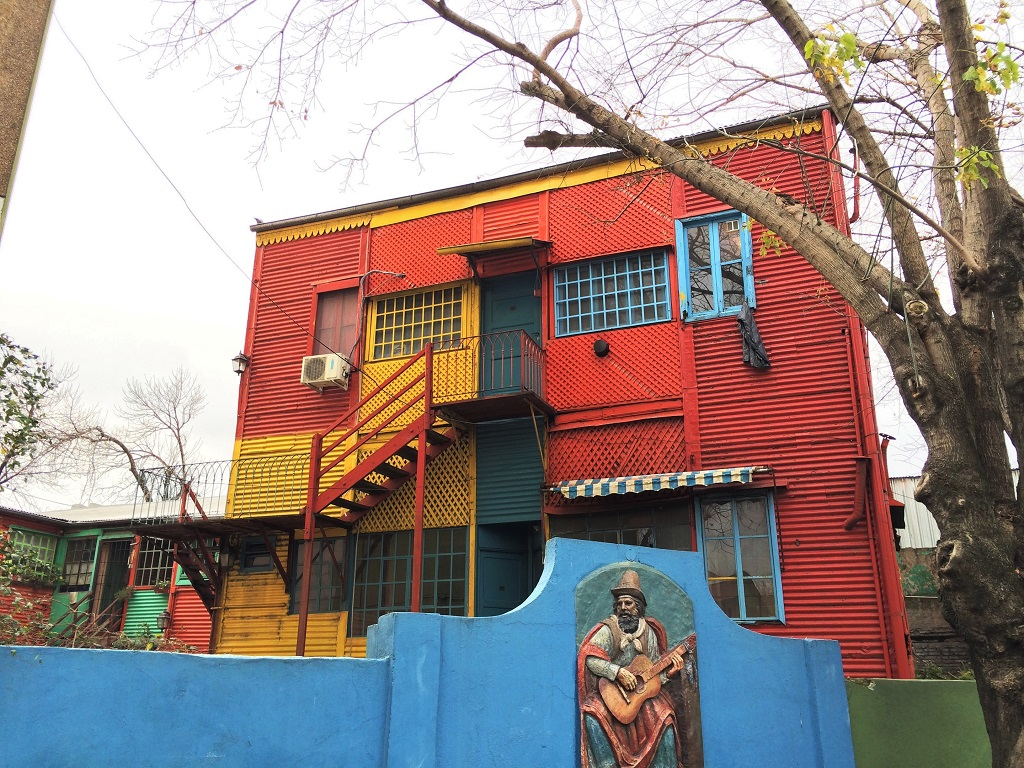 Colorful House behind la boca's colorful houses | slightly astray