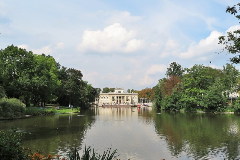 The Palace by the Water was the residence of a former king. Germans burned it after Warsaw Uprising. It was later rebuilt.