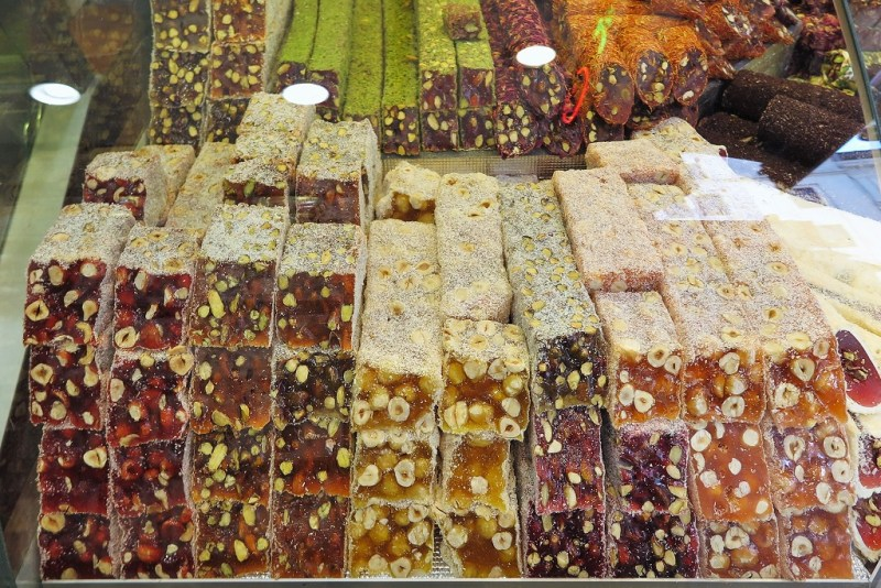 sticky sweetness of Turkish delights