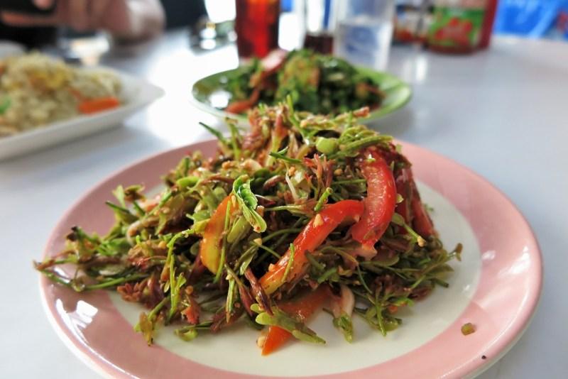 Burmese tamarind leaf salad