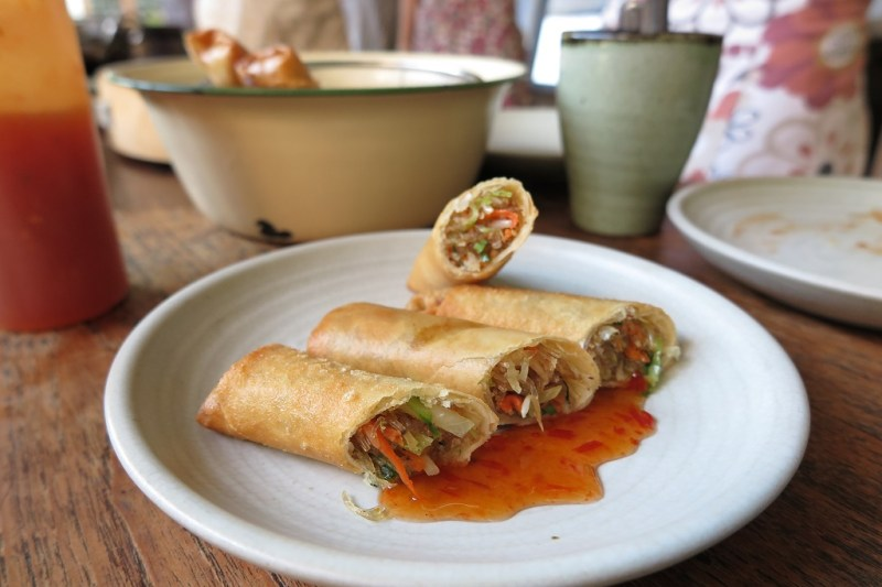 cooking class spring rolls
