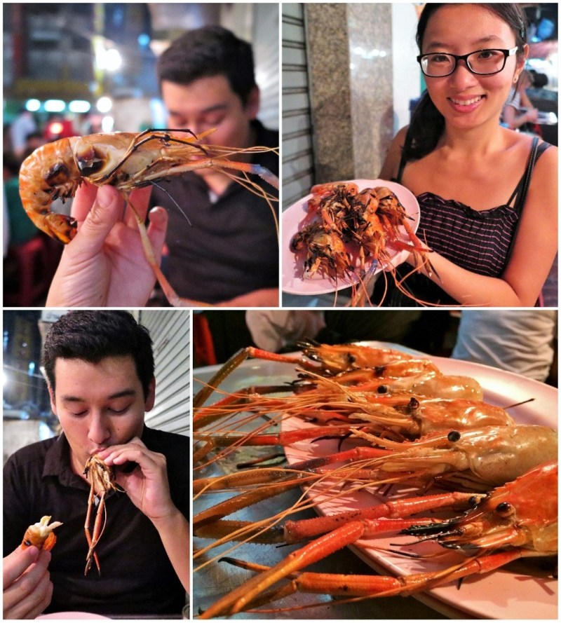 bangkok chinatown prawns collage