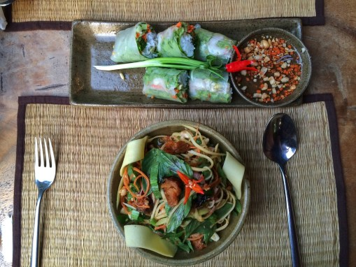 Week 38: Siem Reap - we found a nice restaurant with beautifully presented Khmer food!