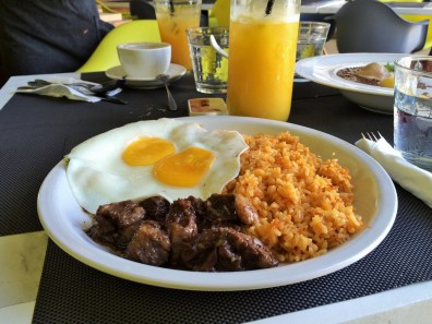 Week 52: Boracay - the staple Filipino breakfast of garlic rice, eggs, and meat