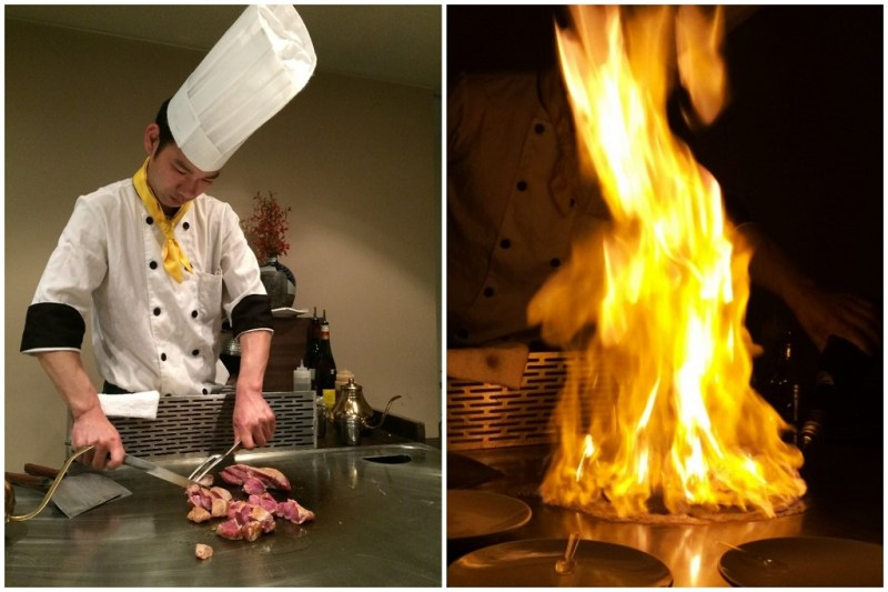 I went to a Japanese teppanyaki for the first time ever