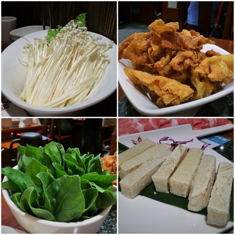 gao lao jiu hotpot ingredients collage