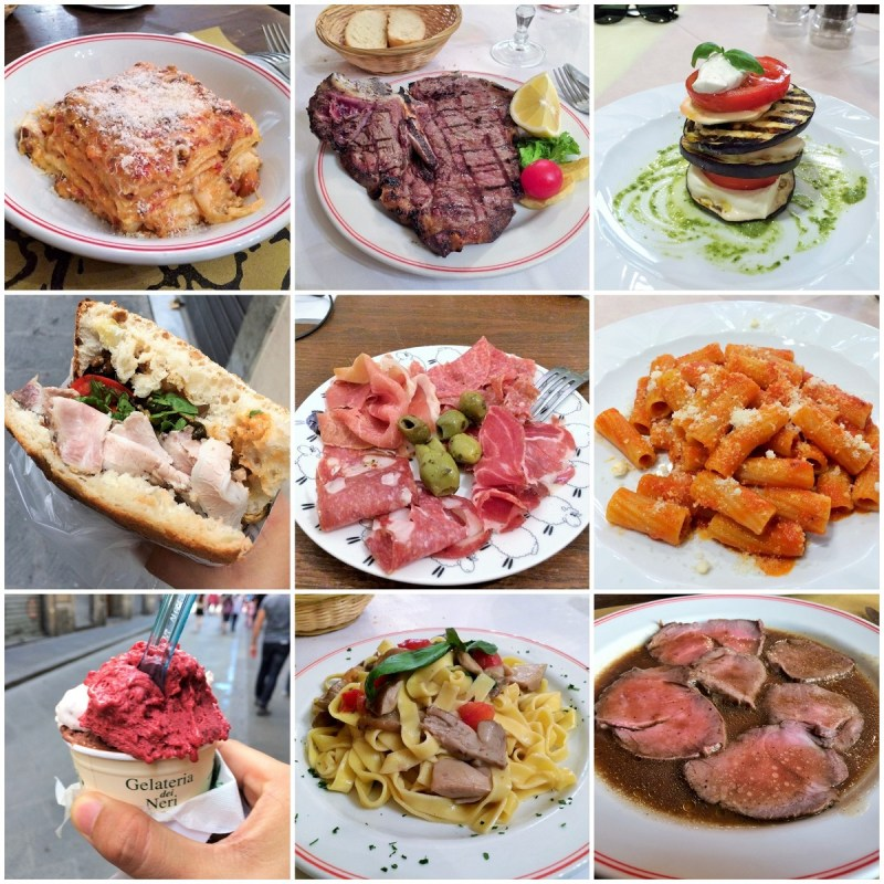 Italy food collage