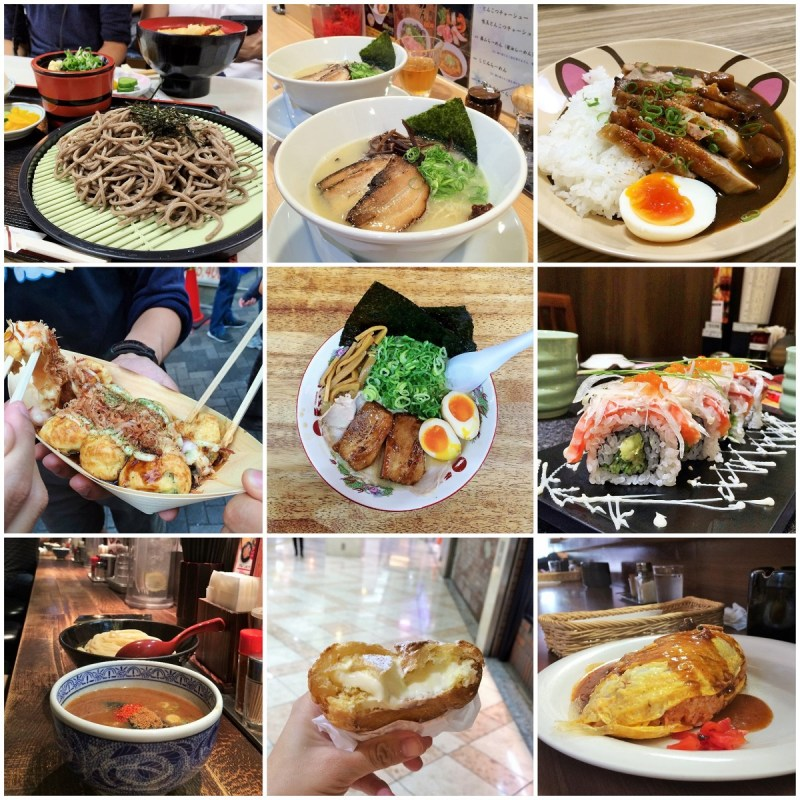 Japan food collage