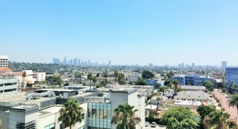 Week 21: Los Angeles - the view of LA from my sister's hospital room