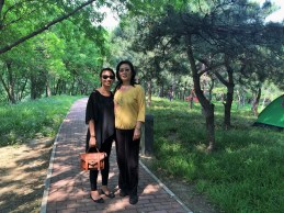 Week 4: Beijing - my mom and I at Olympic Park