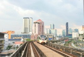 Kuala Lumpur - taking the train for the first time