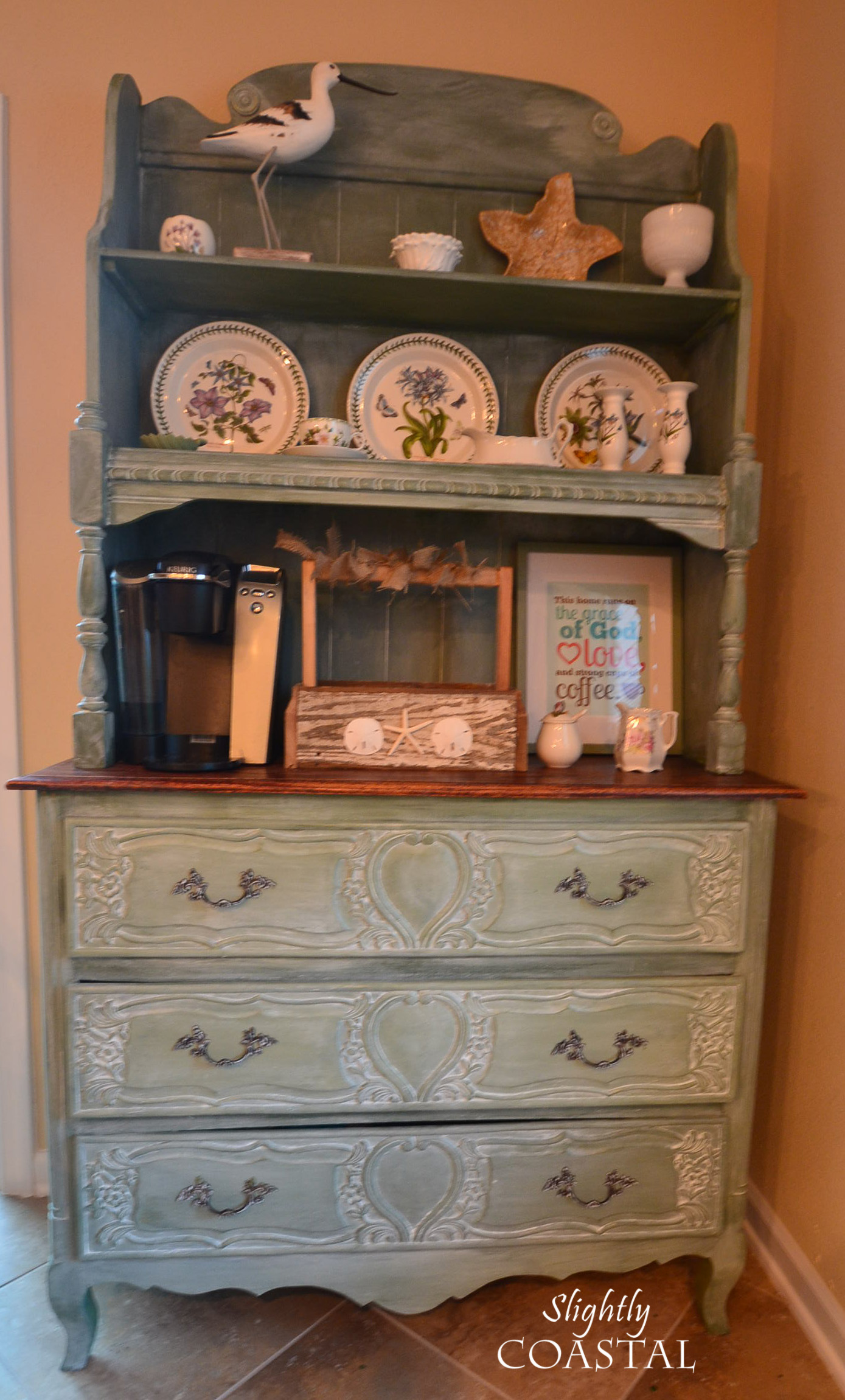 miss mustard seed white wax french hutch - French Decor Blog
