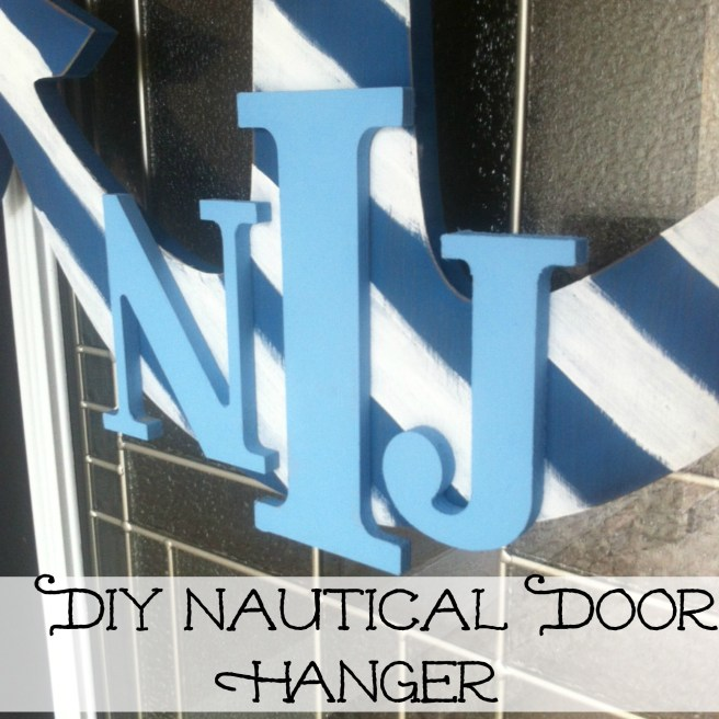DIY Monogram Nautical Door Anchor Hanger, Coastal Decor, www.slightlycoastal.com