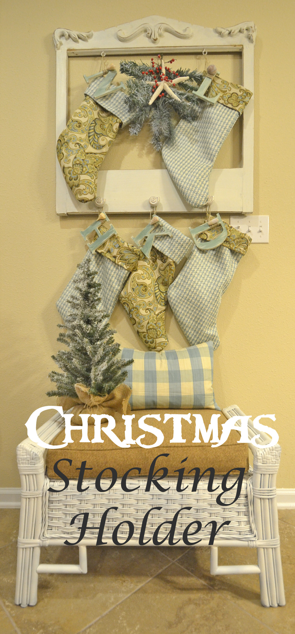 Christmas stocking holder with a twist