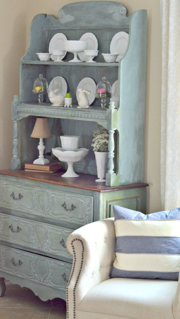 Spring Milk Painted Hutch with Coastal Appeal