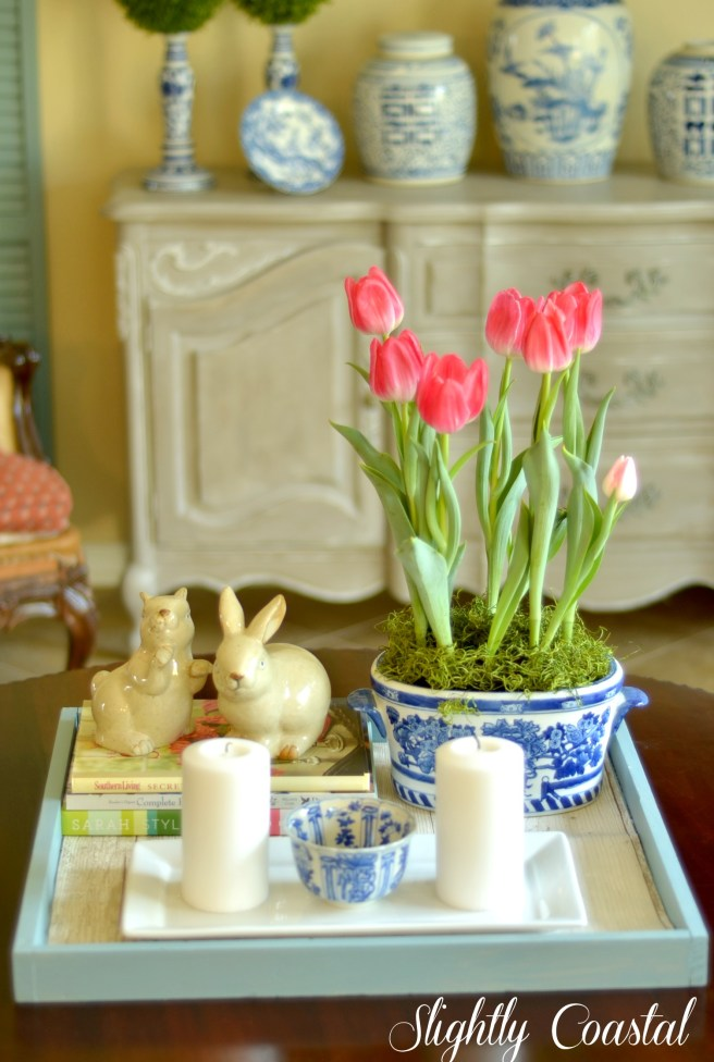 Easter Coffee Table with Tray