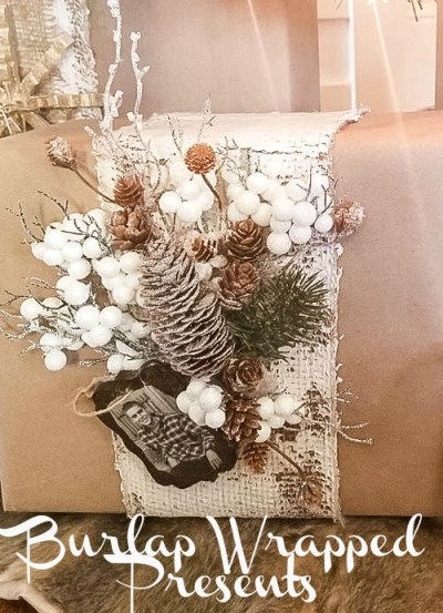 Burlap Wrapped Presents-Diva-Of-DIY