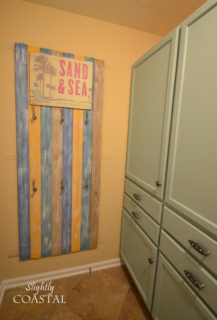 I have no idea what I was thinking with the rainbow wall installation  I  think this was back in my phase when I thought if it was going to be  coastal it. Laundry Room Design Plan   Slightly Coastal