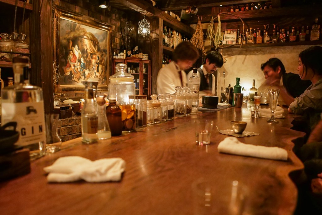 Fresh Campari Cocktail at Bar Ben Fiddich Tokyo
