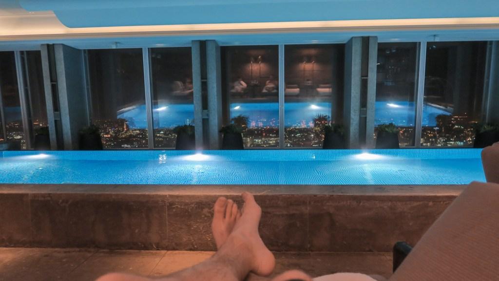 The pool at the Shangri-La Shard.