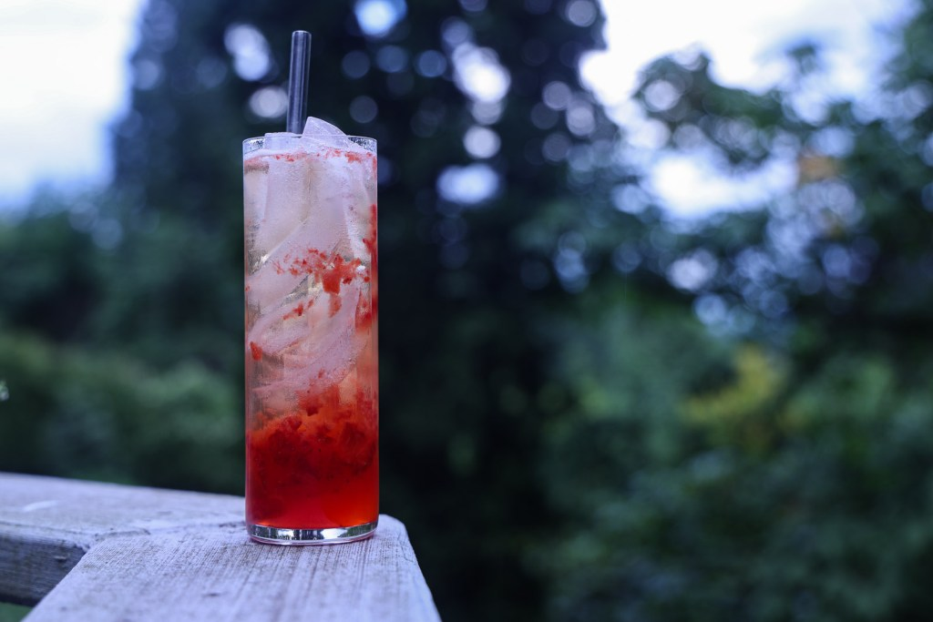 Bourbon Strawberry Lemonade