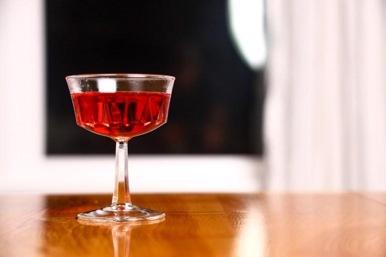 A unique rum negroni using Plantation Pineapple Rum.