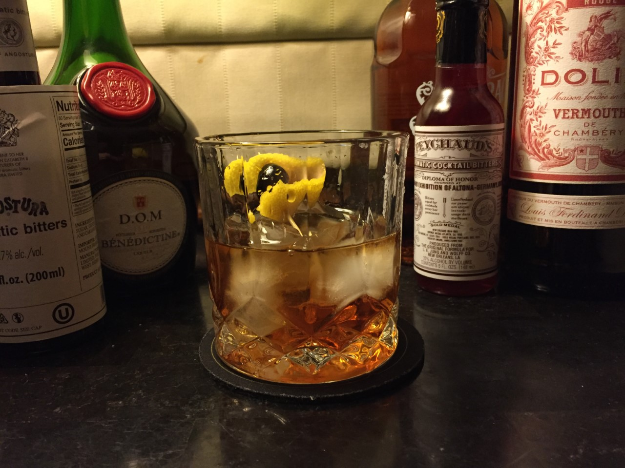 Vieux Carré cocktail recipie