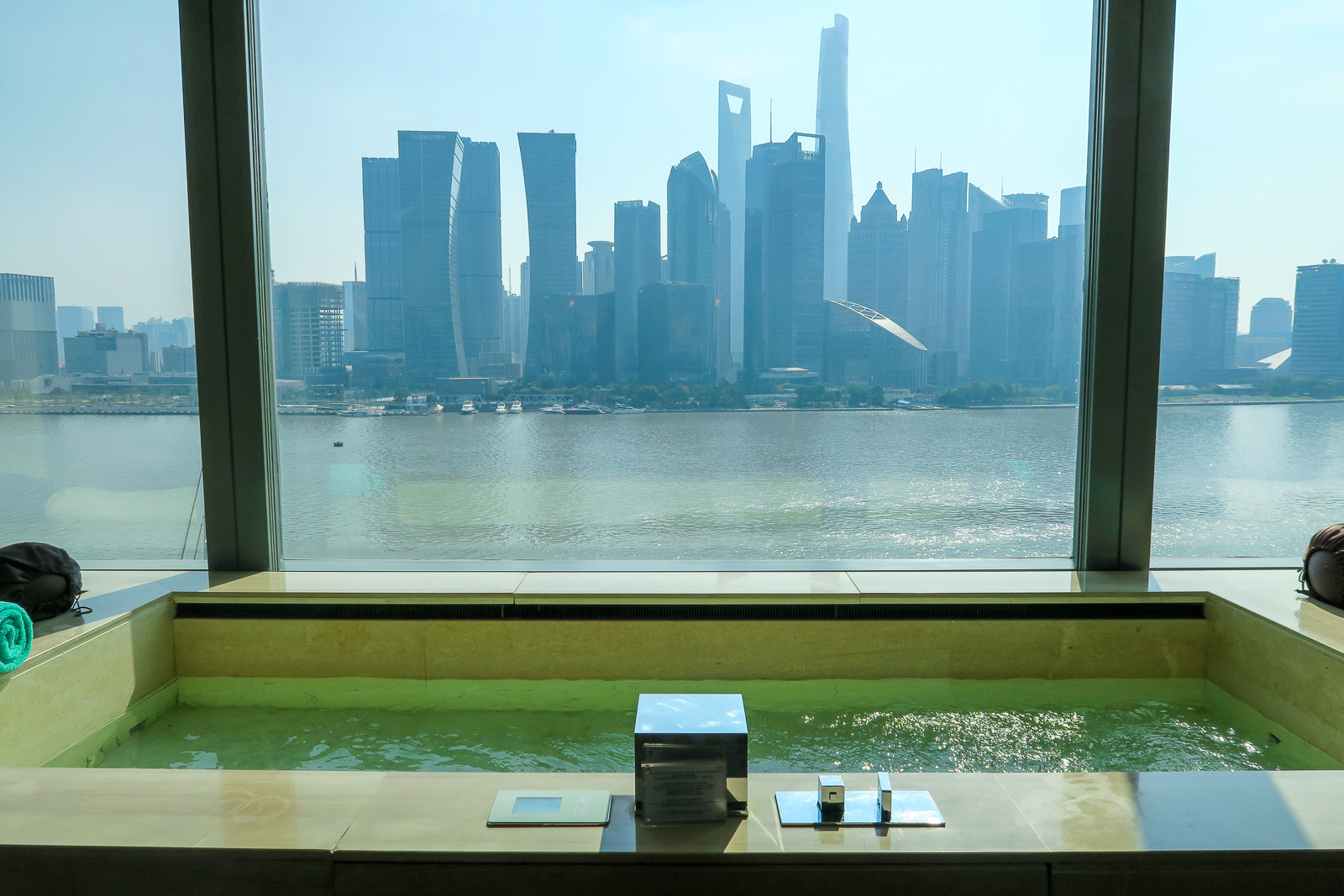 The Oasis Suite pool at the Banyan Tree Shanghai