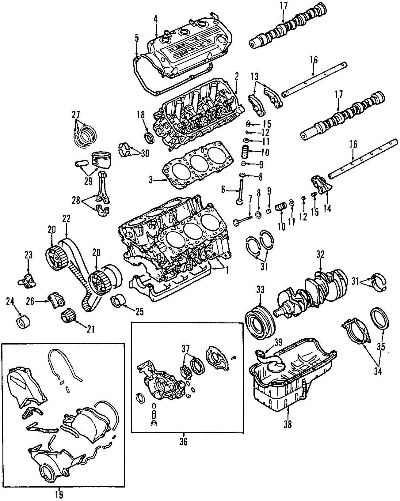 Dodge Stratus Engine Short Block Bearings